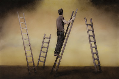 Rogier Alleblas - Man op Ladder
